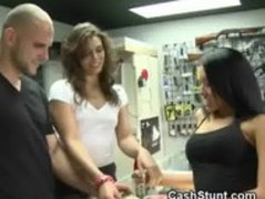 Amateur Brunette Playing With Pussy During Money Talks Stunt Thumb