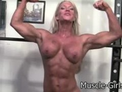 Beautiful Blonde muscular Goddess huge ripped muscles Thumb