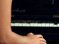 titty blonde toying snatch on the piano Thumb