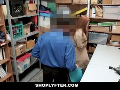 ShopLyfter - Redhead Teen Gets Railed by LP Officer Thumb