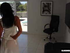 SPY CAM - Hot Milf in white lingerie! BTS Thumb