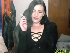 Sultry Smoking Goddess : sensual and sexy cigarette smoking with me at home Thumb