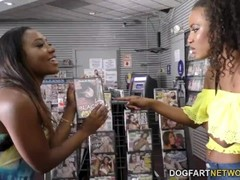 Chanell Heart and Demi Sutra Share Gloryhole Cock Thumb