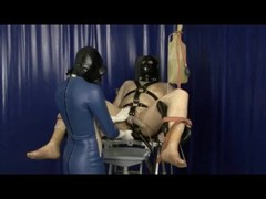 Heavy Rubber Latex Gas Mask Breath Play Control Femdom Clinic Bondage Slave Thumb
