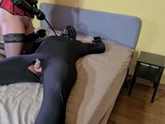 Bound Slave Made To Fuck His Cruel Femdom Mistress And Lick His Own Cum Afterwards Thumb