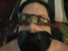 Open mouth gag, huge cumshot facial for this used cumslut Thumb